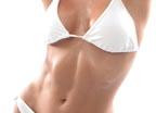 abs white bikini